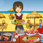 Free online flash games - Beach Food Paradise game - WowEscape