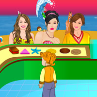 Free online flash games - Celebrities Beach Stall game - WowEscape