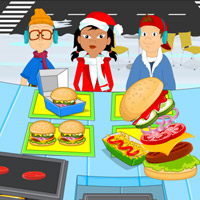 Free online flash games - Christmas Hot Burger game - WowEscape