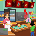 Free online flash games - Grandma Cafe game - WowEscape