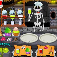Free online flash games - Hallowen Graveyard Restaurant game - WowEscape