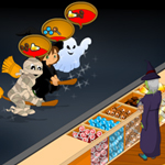 Free online flash games - Hallween Candy Shop-2 game - WowEscape
