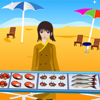 Free online flash games - Roasted Seafood Shop game - WowEscape