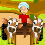 Free online flash games - Cow Cart Ride game - WowEscape