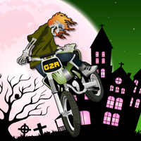 Free online flash games - Halloween Bike Ride game - WowEscape