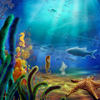 Free online flash games - Aquatic World Escape game - Games2Rule