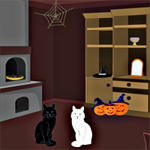 Free online flash games - Black Cat Trick or Treat game - WowEscape
