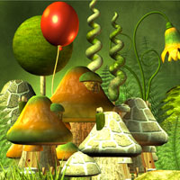 Free online flash games - Bunny Mushroom World Escape game - WowEscape