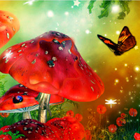 Free online html5 games - Butterfly Fantasy Forest Escape game - Games2rule