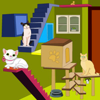 Free online flash games - Cat Room Escape game - WowEscape