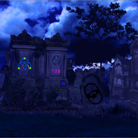 Free online flash games - Cementery Land Escape game - Games2Rule