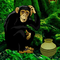Free online flash games - Chimpanzee Tangled Escape game - WowEscape