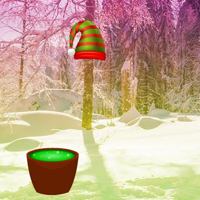Free online html5 games - Christmas Town Forest Escape game