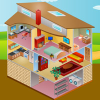 Free online flash games - Cutaway House Escape-6 game - Games2Rule