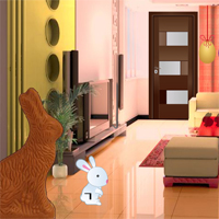 Free online flash games - Easter Bunny House Escape game - Games2Rule