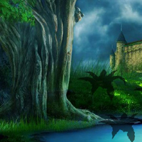 Free online html5 games - Enchanted Castle Forest Escape game