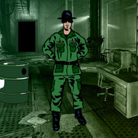 Free online flash games - Enemy Military Camp Escape game - Games2Rule