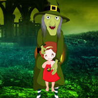 Free online flash games - Escape Little Girl from Witch game - WowEscape