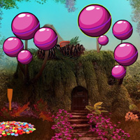 Free online flash games - Fantasy Candy Forest Escape game - WowEscape