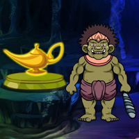 Free online html5 games - Fantasy Magical Lamp Escape game - Games2rule