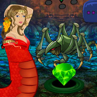 Free online flash games - Fantasy Snake Pearl Rescue game - WowEscape
