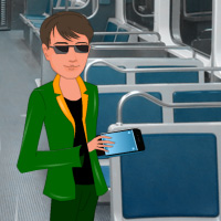 Free online flash games - Find My Mobile in Metro Train game - WowEscape