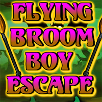 Free online flash games - Flying Broom Boy Escape game - WowEscape
