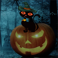 Free online flash games - Get Back Halloween Cat game - WowEscape