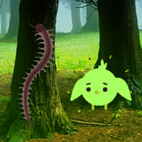 Free online html5 games - Giant Centipedes Forest Escape game - Games2rule