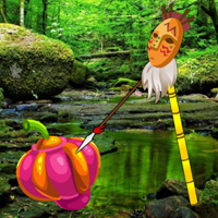 Free online html5 games - Giant Fruits Forest Escape game