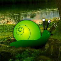 Free online html5 games - Green Snail Forest Escape game - Games2rule