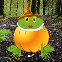Free online flash games - Halloween Pumpkin Frog Escape game - WowEscape