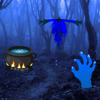 Free online flash games - Haunted Forest Halloween Escape game - Games2Rule