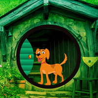 Free online html5 games - Hobbit House Dog Escape game - Games2rule