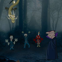 Free online flash games - Horror Halloween Escape game - Games2Rule