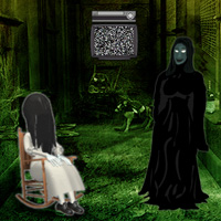 Free online html5 games - Isolated Ghost House Escape game - Games2rule