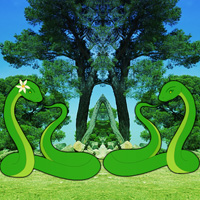 Free online html5 games - Joshua Tree Forest Snake Escape game - Games2rule