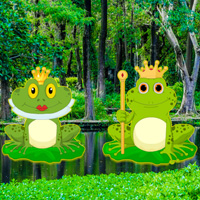 Free online flash games - King Frog Forest Escape game - WowEscape