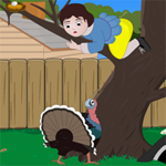 Free online flash games - Little Girl and The Turkey game - WowEscape