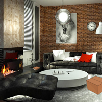 Free online flash games - Modern Brick House Escape game - Games2Rule