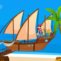 Free online flash games - Pirates Island Escape game - Games2Rule