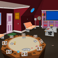 Free online flash games - Poker House Escape game - Games2Rule