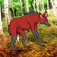 Free online flash games - Red Wolf Forest Escape
