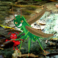 Free online flash games - Rescue Ant from Grasshopper game - WowEscape