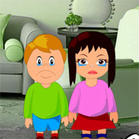 Free online flash games - Rescue Children from Locked House game - WowEscape