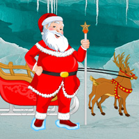 Free online flash games - Santa Rescue Sleigh Reindeer game - WowEscape