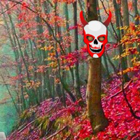 Free online html5 games - Scarlet Ghost Forest Escape game