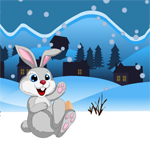 Free online flash games - Snow Rabbit Escape game - Games2Rule