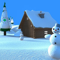 Free online flash games - Snow World Escape-2 game - Games2Rule