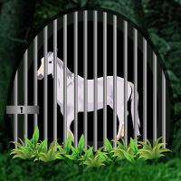 Free online html5 games - White Horse Trapped Escape game - Games2rule